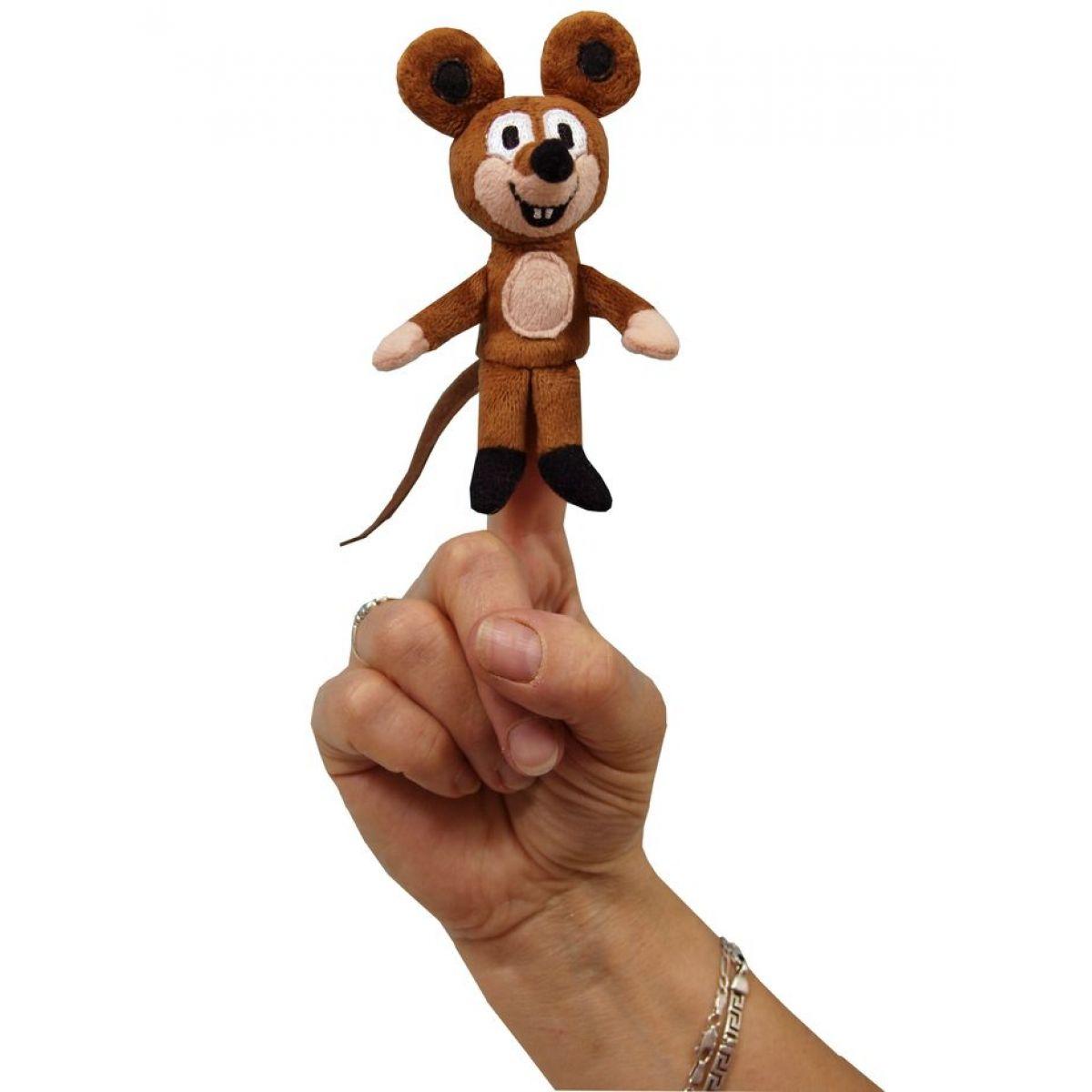 Prstová maňuška Myška 8 cm