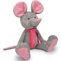 MÚ Brno Myška Alfi šedo růžová 65cm
