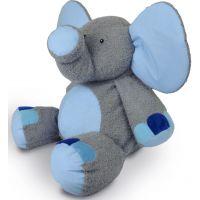 MÚ Brno Slon Valda šedo modrý 90cm