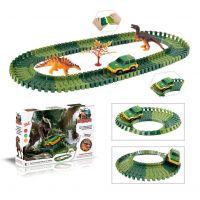 Mustar Variabilní dráha s dinosaury 100 dílů