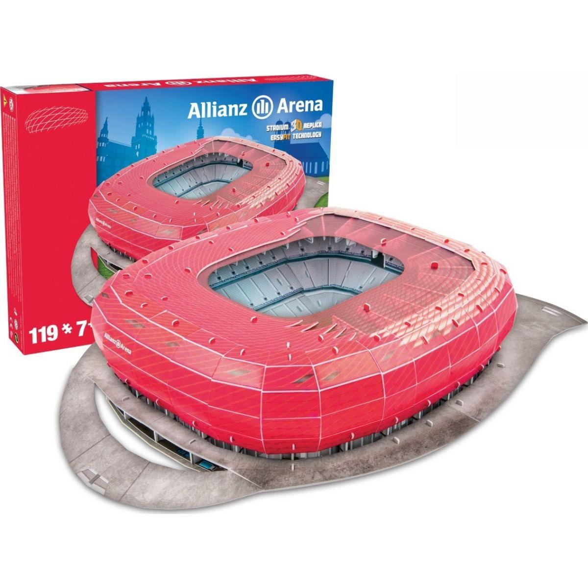 Nanostad 3D puzzle Štadión Allianz Arena FC Bayern Mníchov