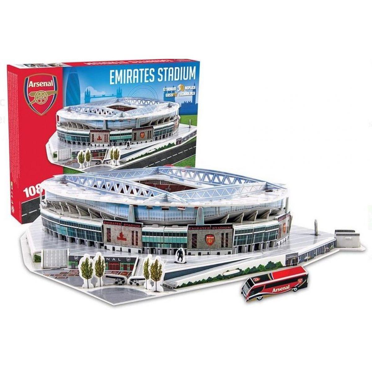 Nanostad 3D puzzle UK Emirates Arsenal 108 dielikov