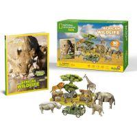 HM Studio Puzzle 3D Africká divočina NG- 69 dielikov