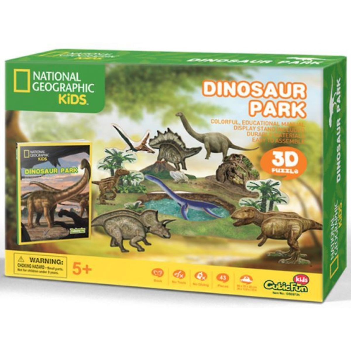 CUBIC FUN 3D puzzle National Geographic Dinosaur Park