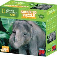 Prime 3D National Geographic Kids 3D Slon 48 dílků 2