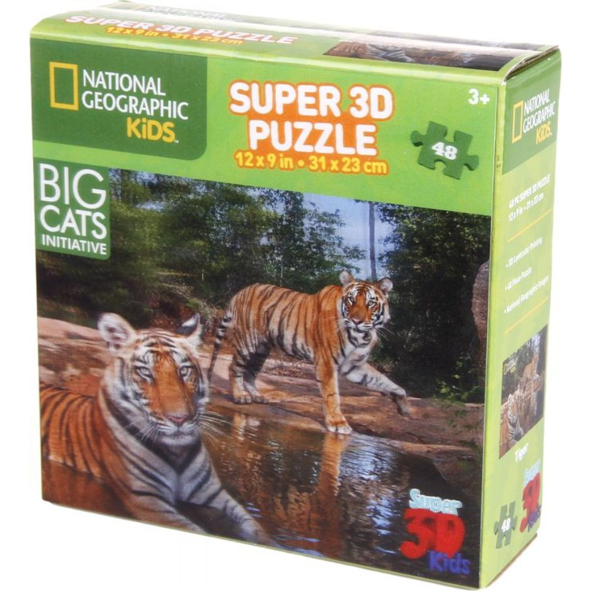 National Geographic Kids 3D Puzzle Tiger 48 dielikov