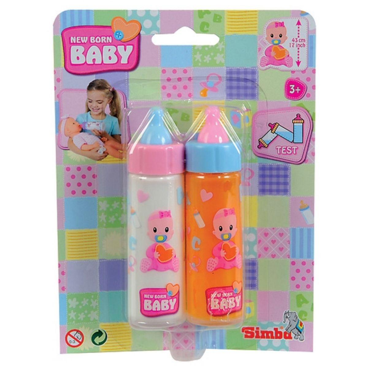 Simba Toys New Born Baby Dvě lahvičky pro panenky