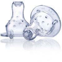 Nuby silikónový cumlík na fľašu štandard masážny nekvapkajúci samoregulačný