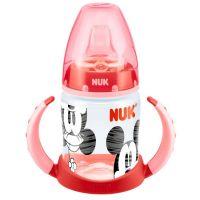 NUK červená FC Fľaša na učenie Disney MICKEY MOUSE 150ml silikónová savička