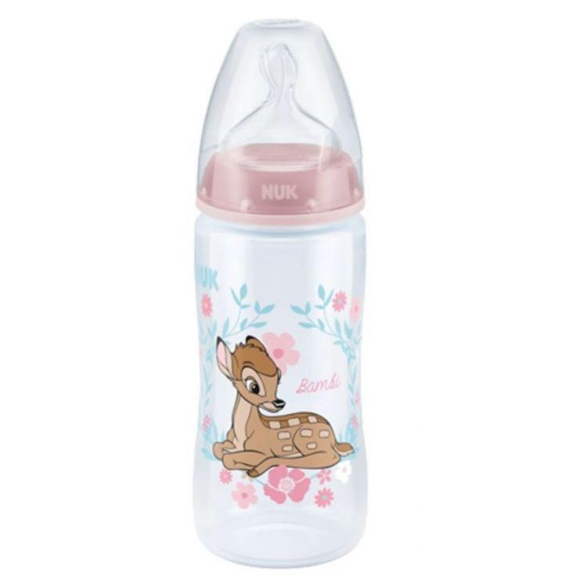 NUK Dojčenská fľaša First Choice Disney ružová 300 ml