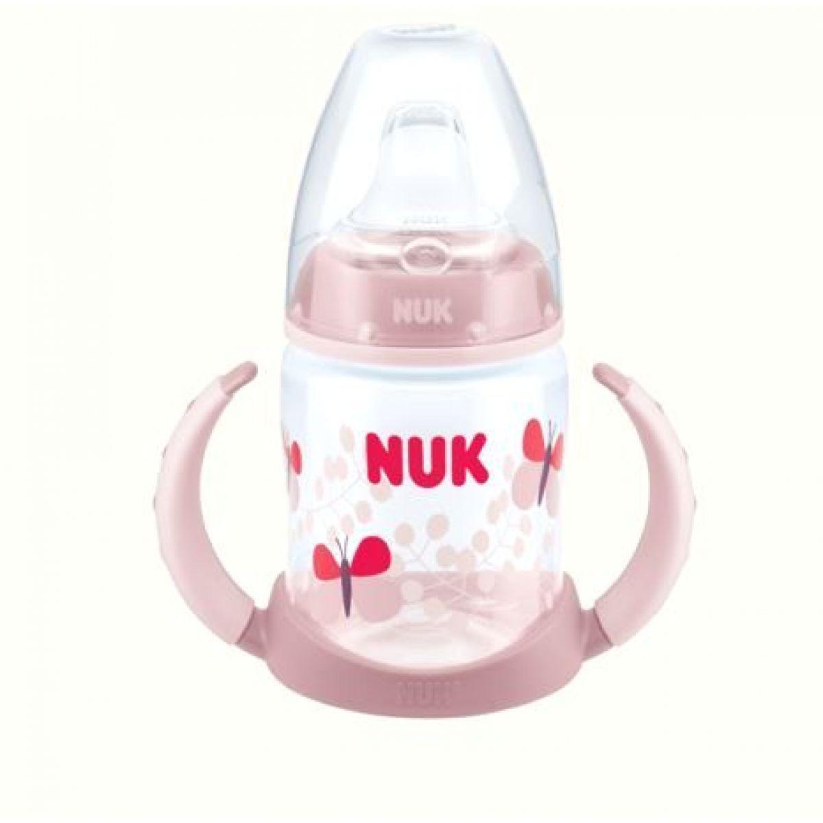 Nuk FC lahvička na učení světle růžová 150ml