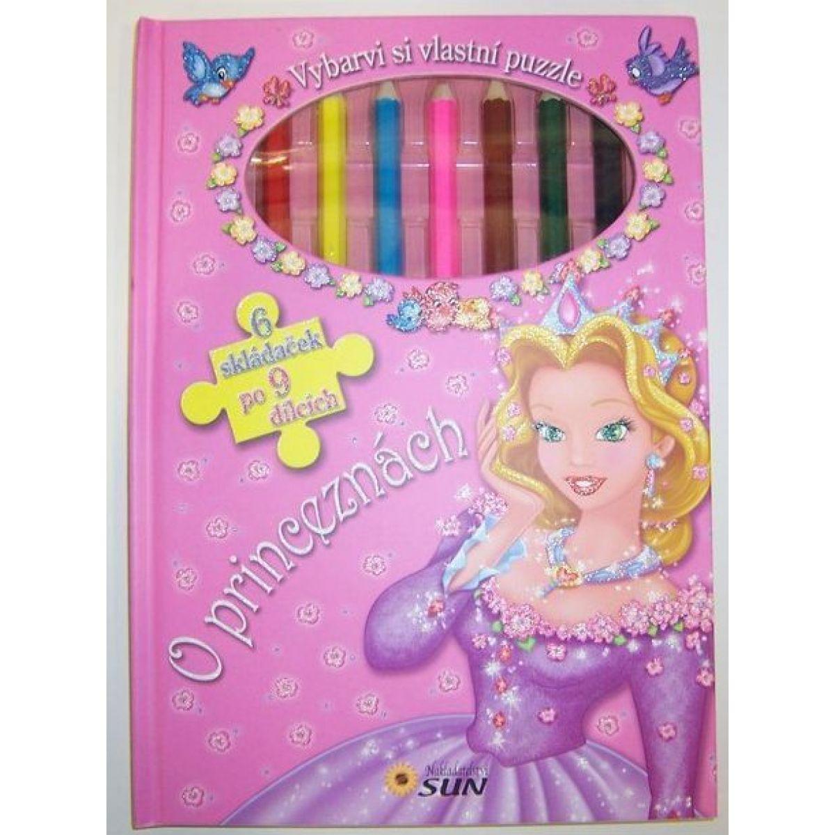 O princeznách - vyfarbi si puzzle