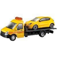 Odťahovka Bburago a autom 1:43 Žltá