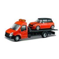Odťahovka Bburago a autom 1:43 Oranžová
