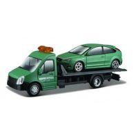 Odťahovka Bburago a autom 1:43 Zelená