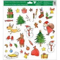 Okenné fólie 30 x 33,5 cm vianočné motívy Krabica darčekov