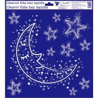 Okenné fólie 30 x 33,5 cm zimné motívy Mesiac