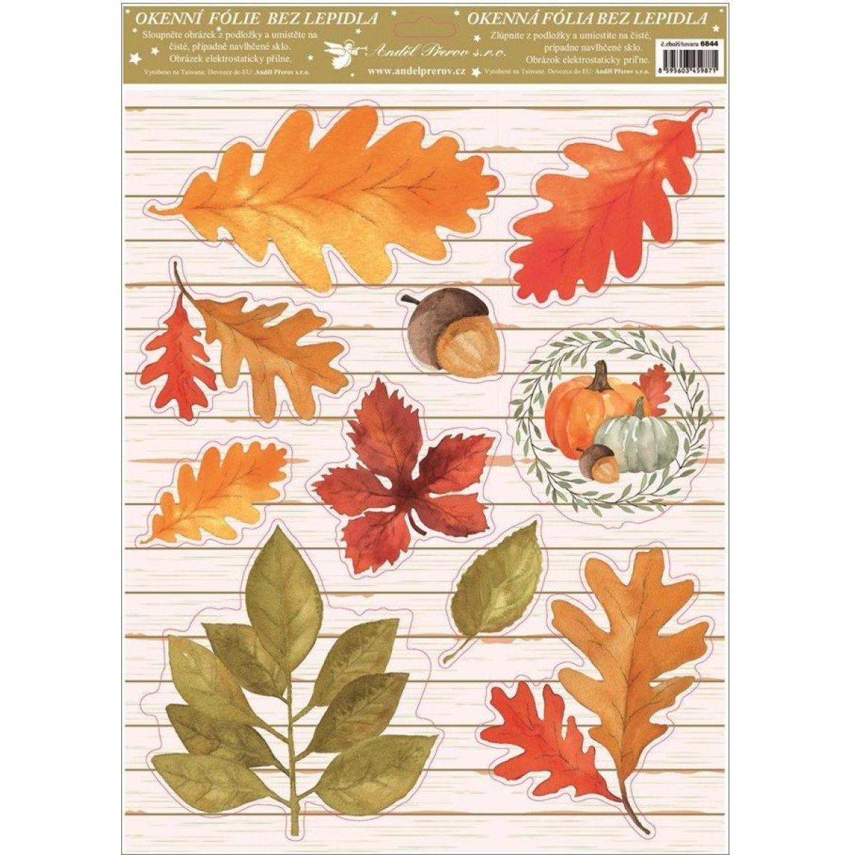 Okenné fólie 30 x 42 cm jeseň rôzne lístie