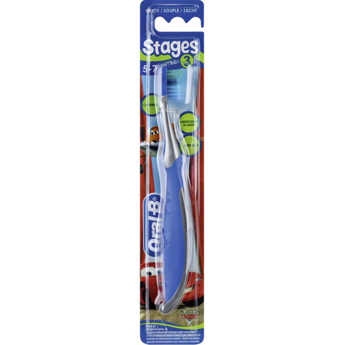 Oral B Pro-Expert Stages Cars pre deti soft Mix Colors (5-7 Years)