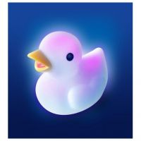 Kamarád do vody Pabobo Lumilove Bath Duck bílá 4