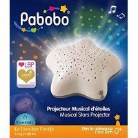 Pabobo Star projektor na batérie Beige Hippo 6