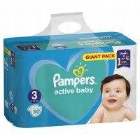 Pampers Active Baby Giant Pack S3+ 90ks