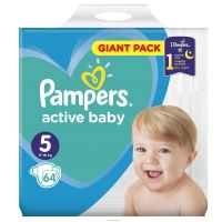 Pampers Active Baby Giant Pack S5+ 64ks