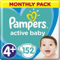 Pampers Plienky Active Baby 4+ Maxi 9-16kg 152 ks