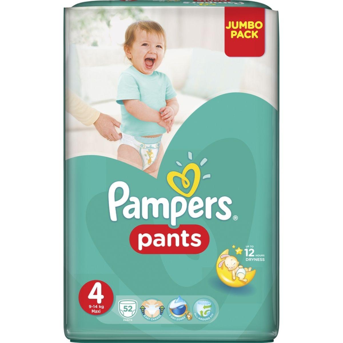 Pampers Pants Maxi 9 14kg Jumbo Pack S4 52ks