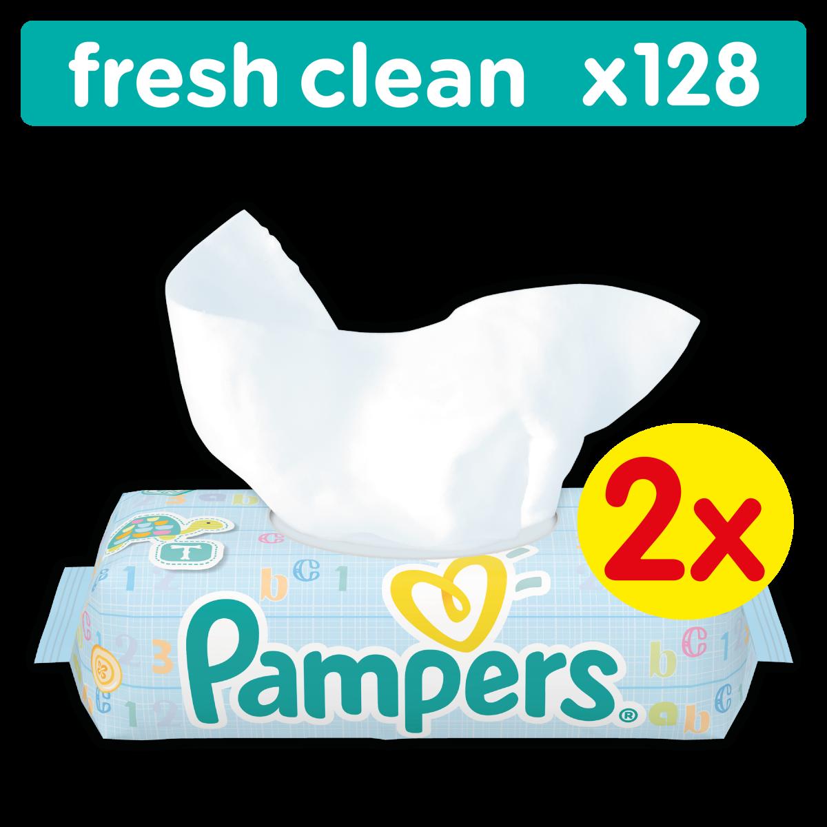 Pampers obrúsky Fresh Clean 2x64ks