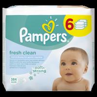 Pampers obrúsky Fresh Clean 6x64ks 2