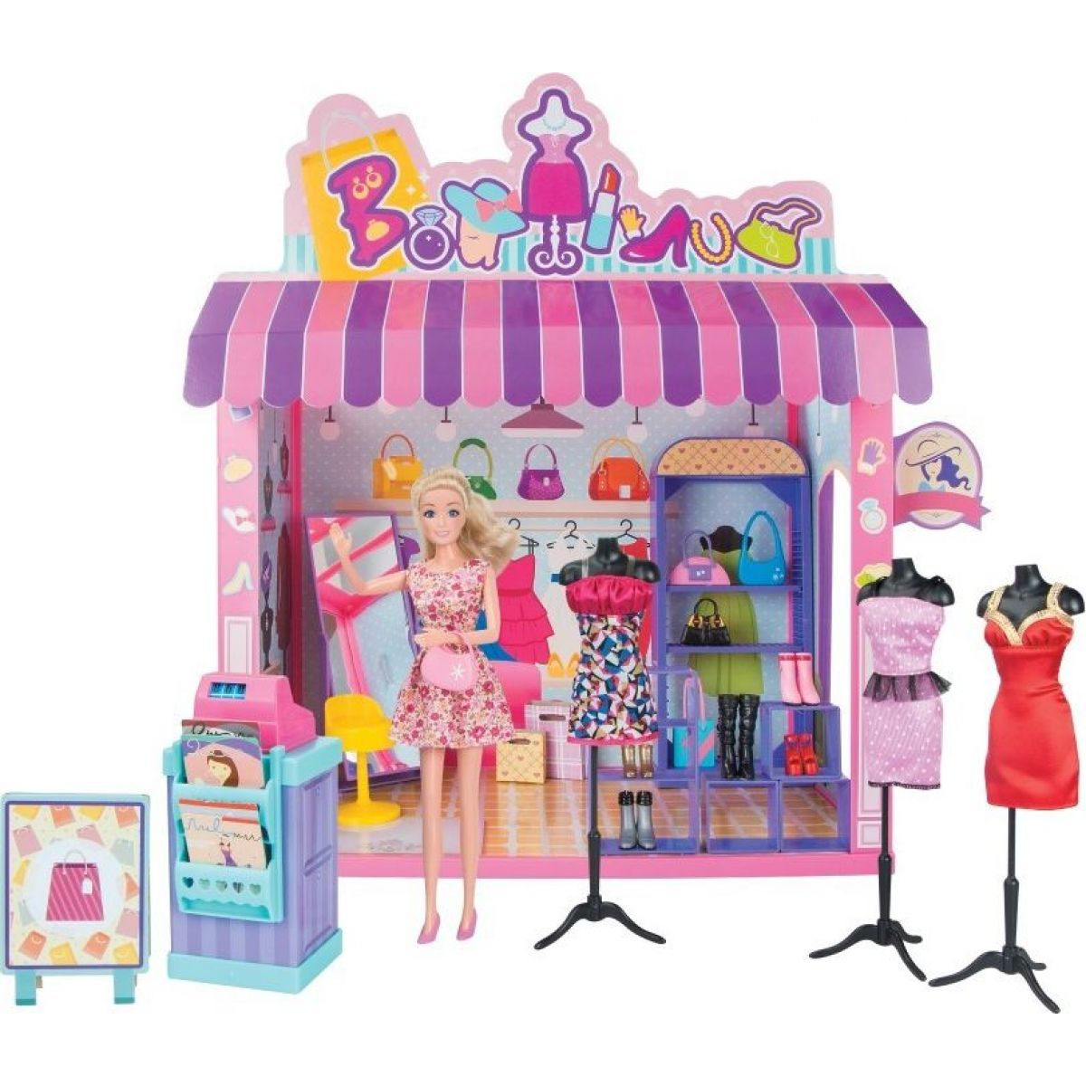 Bábika a obchod s odevmi