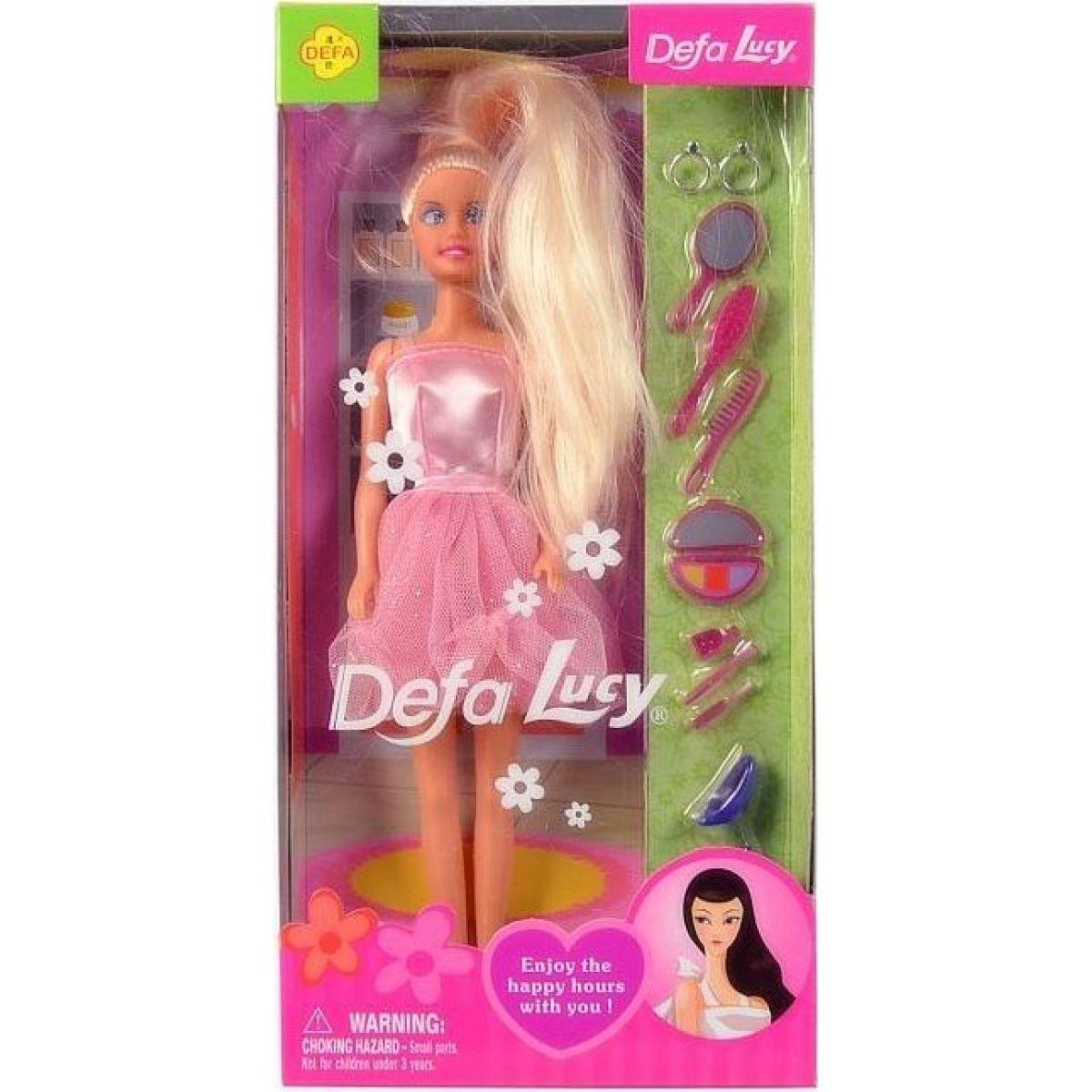 Bábika kaderníčka s príslušenstvom 28cm ružové šaty
