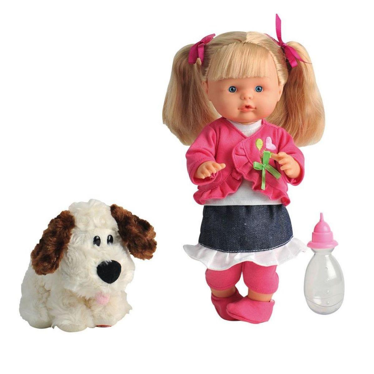 Bábika Nena hovoriaca 36 cm so psíkom