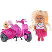 Bábika s motorkou a psíkom
