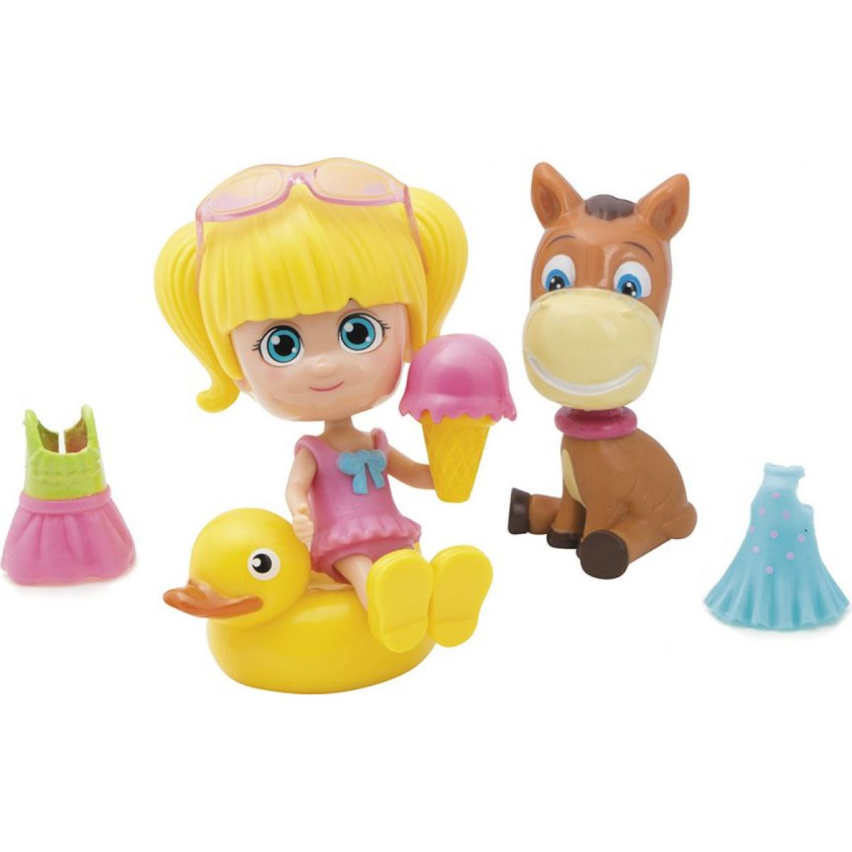 Paula & Friends bábika s doplnkami a zvieratkom oslík