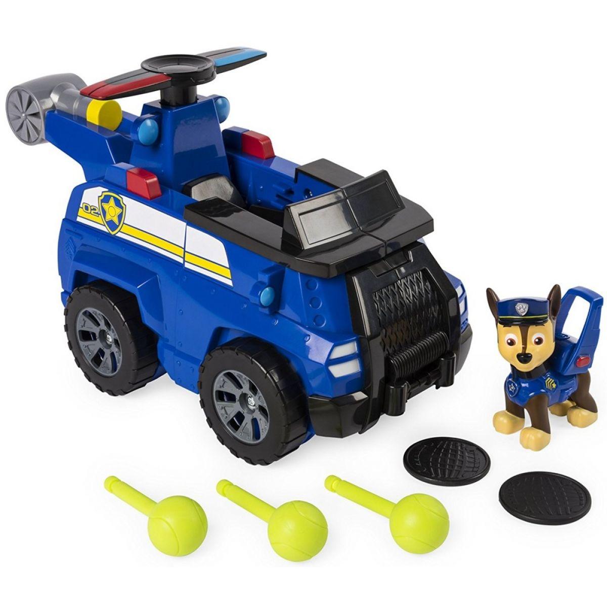 Paw Patrol rýchlo meniace sa vozidlá Chase Flip a lietajúci stroj