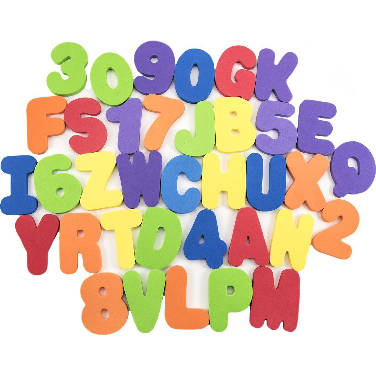 Penová písmená a číslice vodolepky 8cm