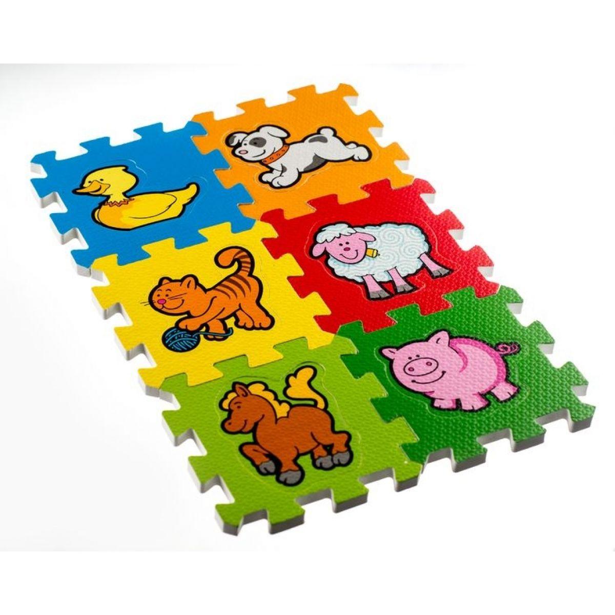 Penové puzzle Moja prvé zvieratká 6ks