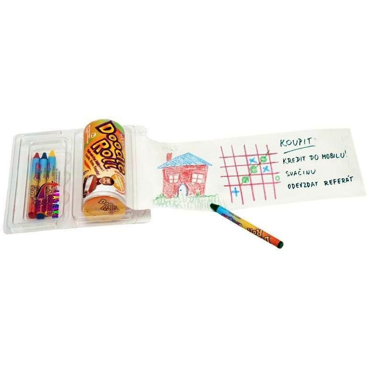 Pexi Doodle roll kreatívne sada s pastelkami 4ks