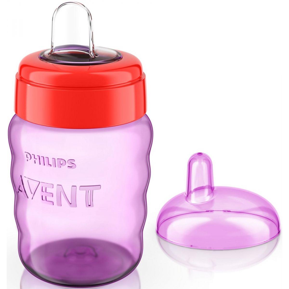 Phillips Avent Hrnček pre prvé dúšky Classic 260 ml, fialový