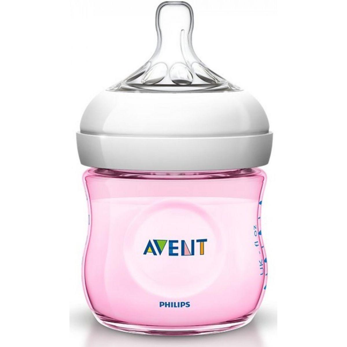 Dojčenská fľaša Natural 125 ml ružová Philips Avent