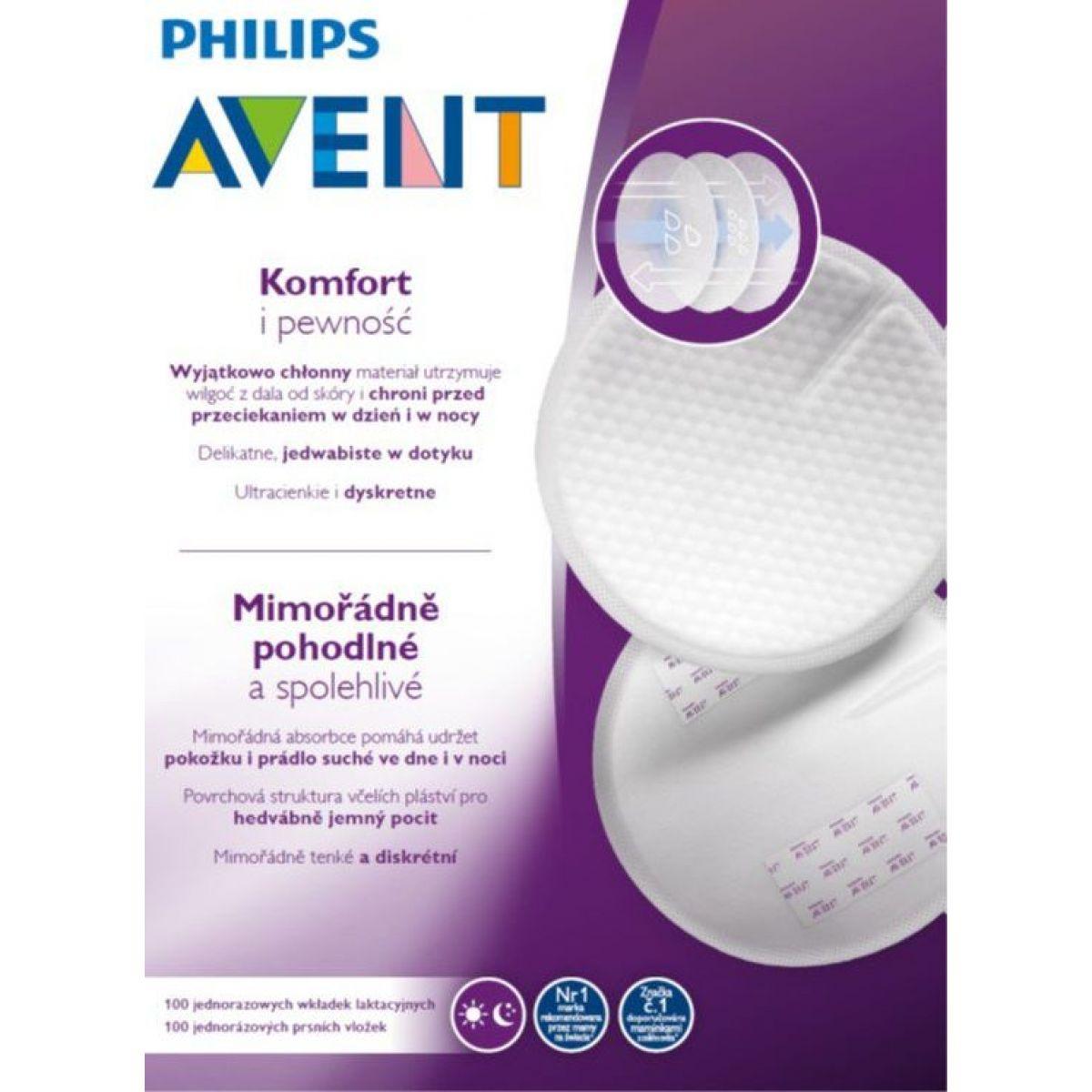 Philips Avent Prsné vložky jednorázové 100 ks