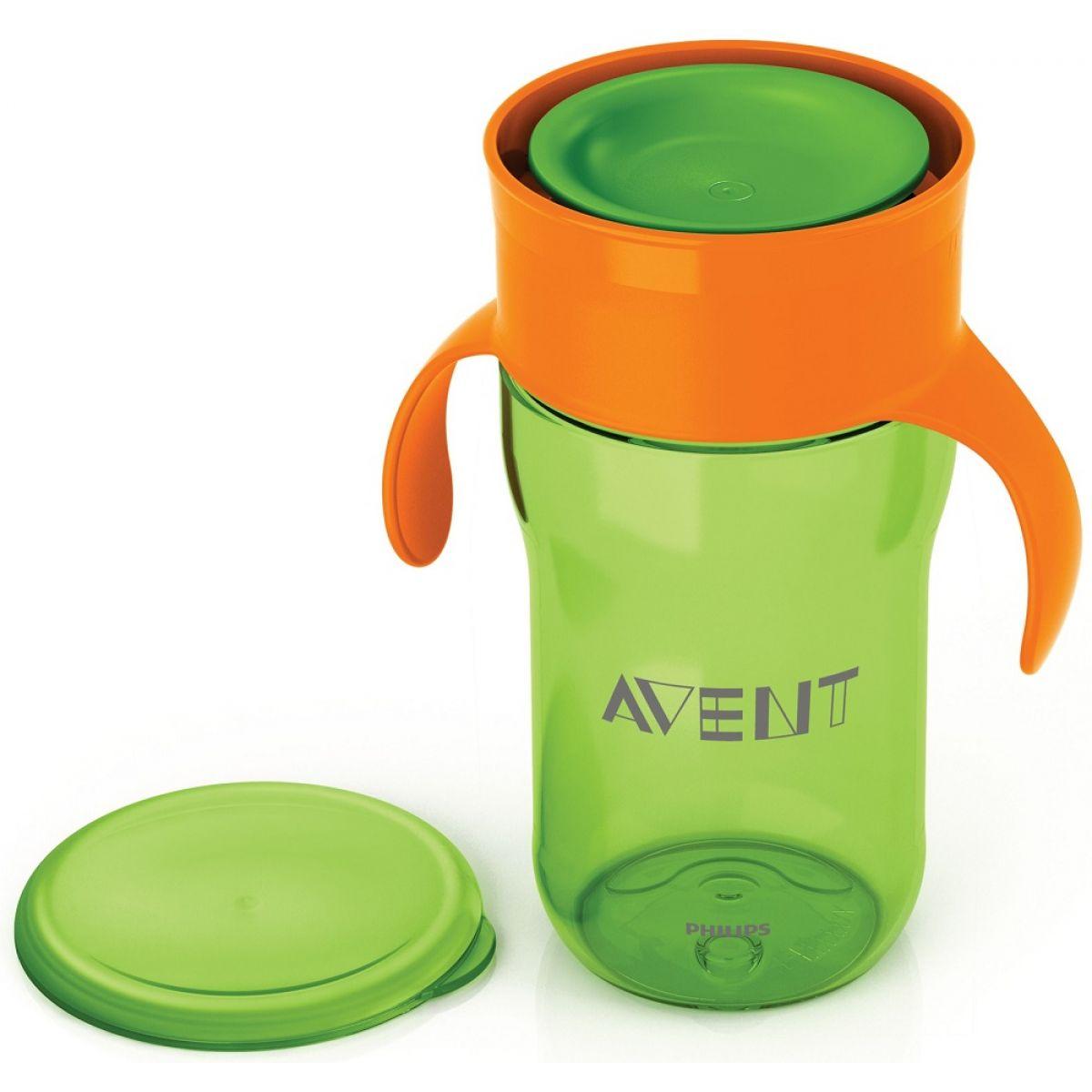 Philips Avent první skutečný hrneček 340 ml zeleno oranžová