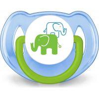 Philips Avent Sada fľaša 260 ml + cumlík 2 ks + pásik k cumlíku s potlačou slonov modrá 4