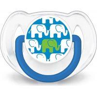 Philips Avent Sada fľaša 260 ml + cumlík 2 ks + pásik k cumlíku s potlačou slonov modrá 5