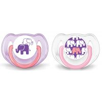 Philips Avent Dudlík silikon bez BPA slon holka
