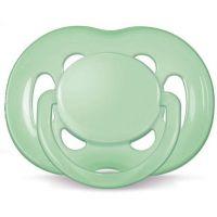 Avent Zelený cumlík sensitive (silikón) - 6-18 mesiacov