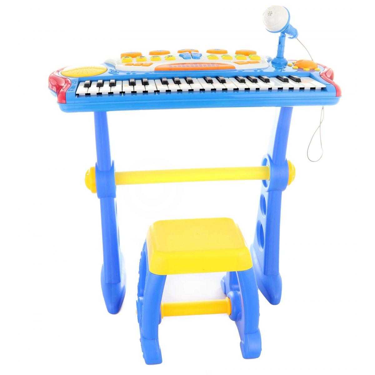 Piáno s adaptérom 37 klávesov modré