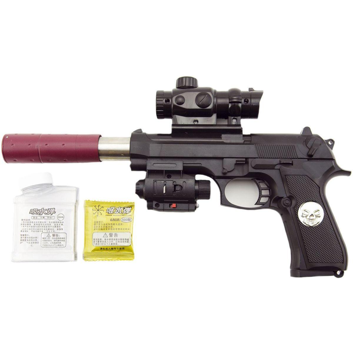Pištoľ na vodné guličky vrátane nábojov 6 mm